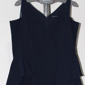 NWOT Maggy London Blue Ruffle Dress (W) Sz 14